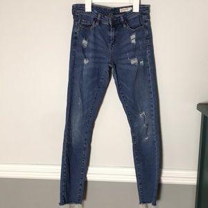 Blank NYC Raw hem skinny jeans size 28